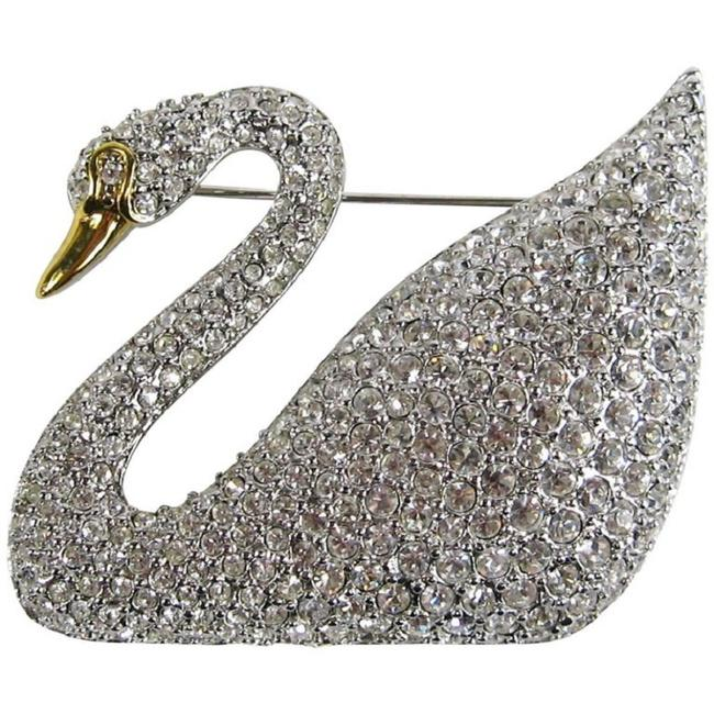 Item - Crystal Iconic Swan Bug Brooch Pin New Never Worn 1990s