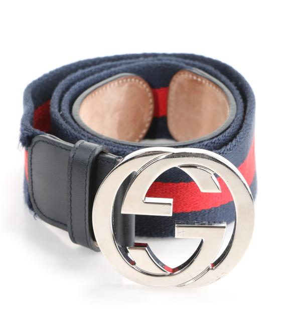 Item - Blue/Red Web Belt with G Buckle Men's Jewelry/Accessory