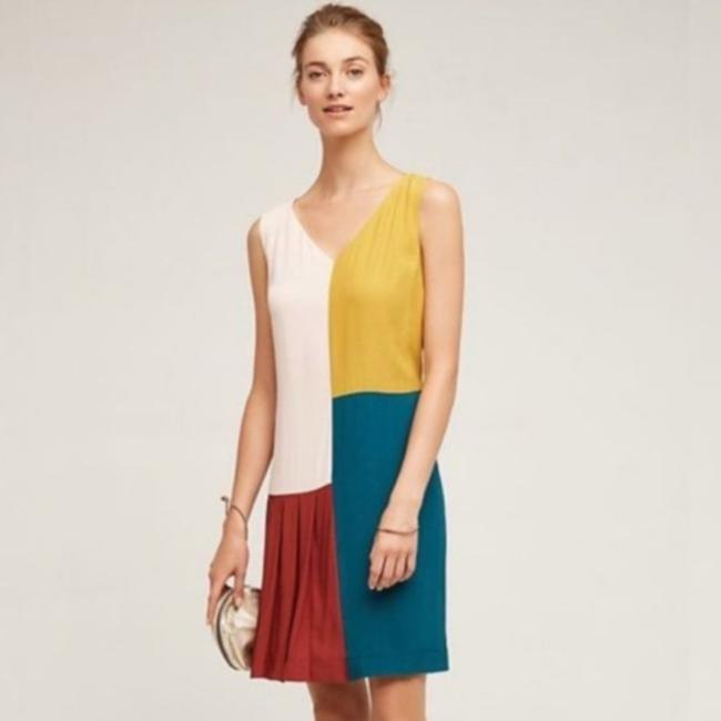Item - Yellow Anthropologie Colorblock Short Casual Dress Size 6 (S)