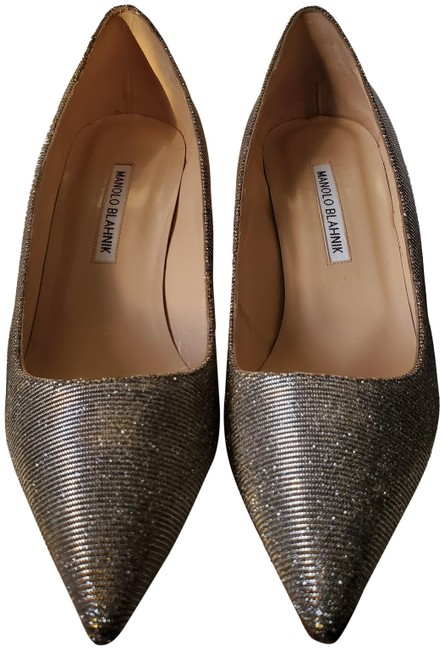 Item - Silver Fabric Bb 70 Formal Shoes Size EU 40 (Approx. US 10) Regular (M, B)