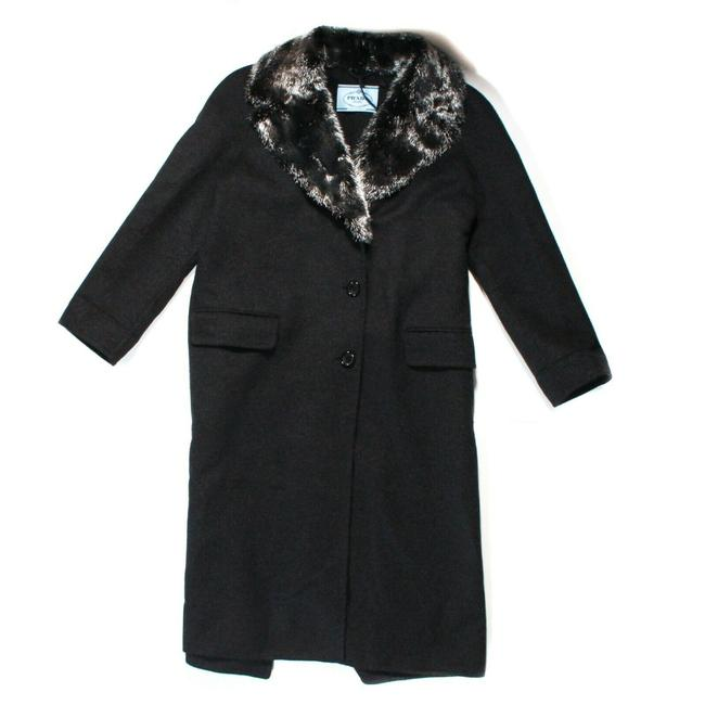Item - Antracite Grey - Black Double New: 2017 Long Faced Mink Us 3 Coat Size 00 (XXS)