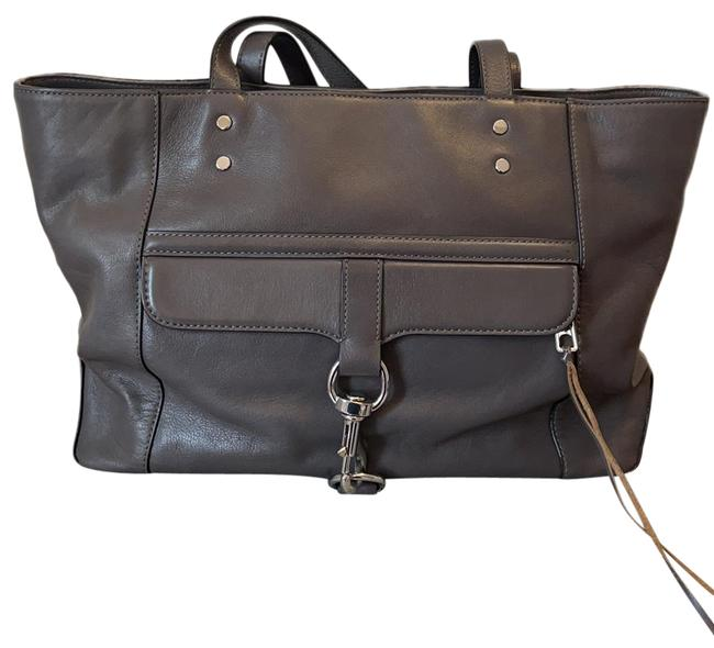 Item - Gray Leather Tote