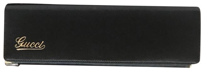 Item - With Script Black and Gold Satin Clutch