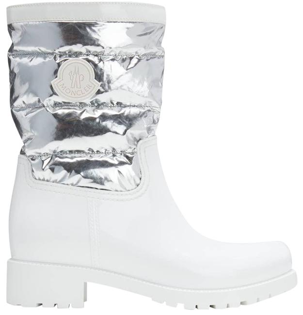 Item - White Gisele Silver Metallic Quilted Boots/Booties Size EU 41 (Approx. US 11) Regular (M, B)