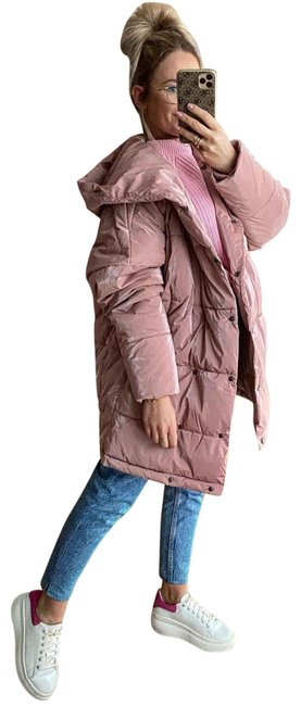 Item - Pink Hooded Puffer Coat Size 2 (XS)