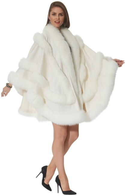 Item - Winter White Empress Cashmere Collection Poncho/Cape Size OS (one size)