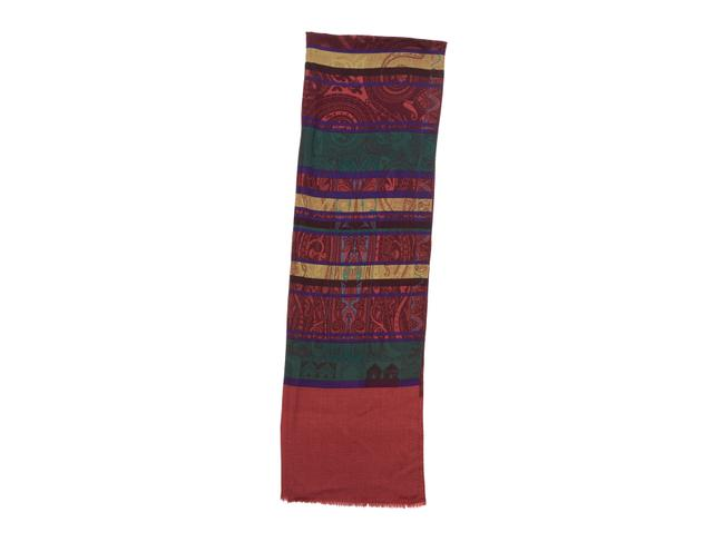 Item - Red Multicolor Paisley Print Scarf/Wrap