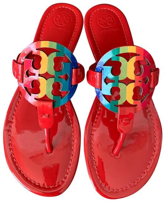 Item - Multicolor Miller Rainbow Logo Flat Sandals Size US 6 Regular (M, B)