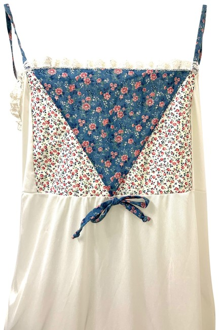 Item - Ivory Blue Pink Orpheus Women's Nightgown Long Casual Maxi Dress Size 6 (S)