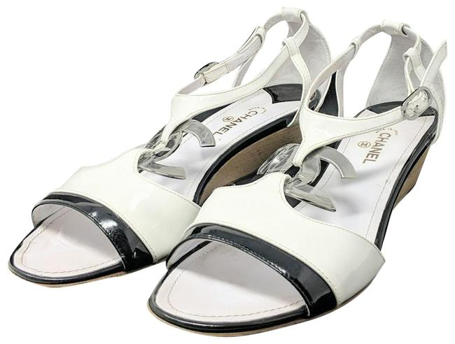 Item - White Cc Sandals Wedges Size EU 41 (Approx. US 11) Regular (M, B)