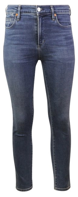 Item - Blue Medium Wash Rocket Crop Mid Rise Fit In Story Skinny Jeans Size 28 (4, S)
