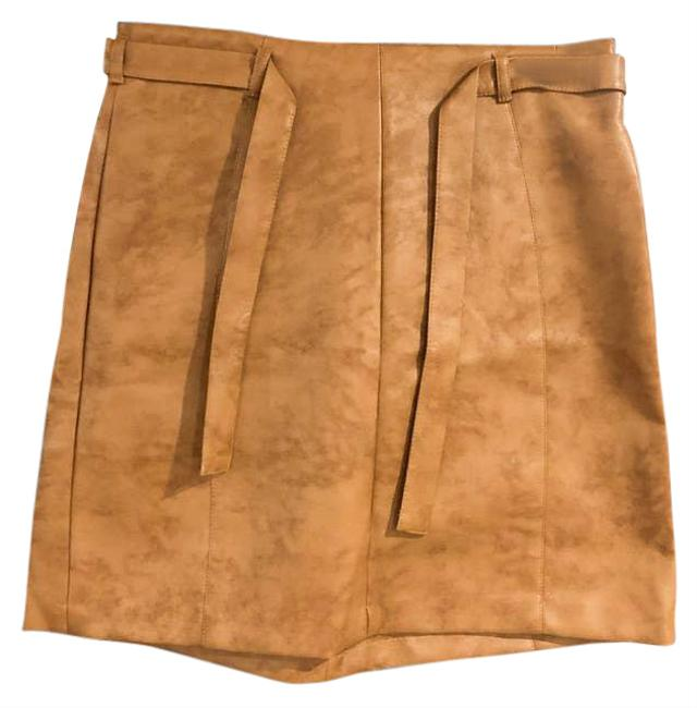 Item - Tan Natural Faux Leather Skirt Size 6 (S, 28)