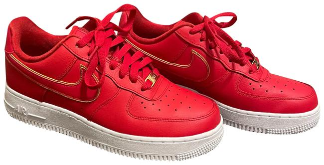 Item - Red Wmns Air Force 1 Low 'red Gold Swoosh' Sneakers Size US 8 Regular (M, B)