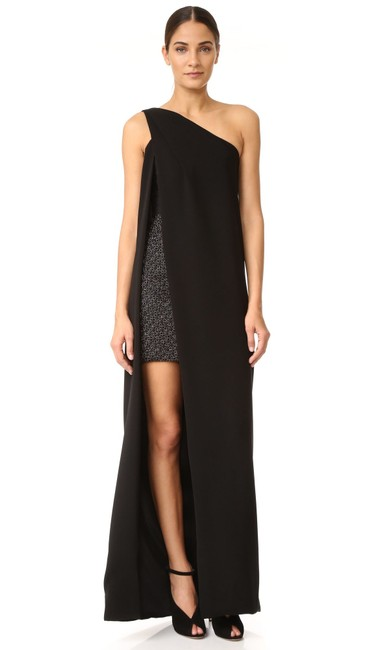 Item - Black Gown with Mini Underneath Long Formal Dress Size 6 (S)