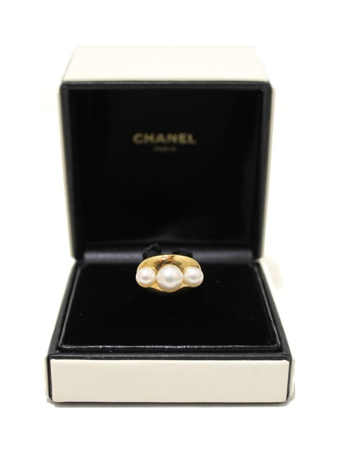 Item - Gold 18k Yellow Pearl Size 6 Ring