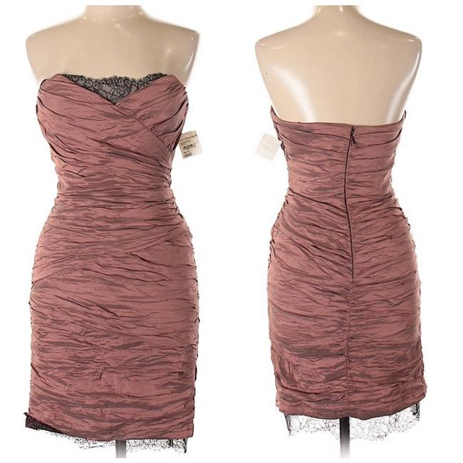 Item - Pink Rachel Ruched Sweetheart Neckline Mid-length Cocktail Dress Size 10 (M)
