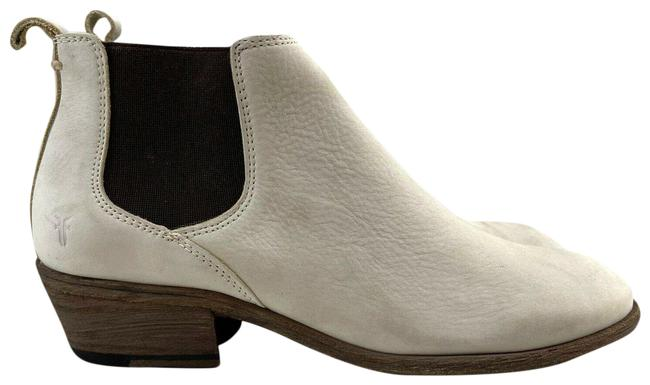 Item - Ivory Cream Carson Chelsea Pull Up Gore Wood Stack Heel Boots/Booties Size US 8.5 Regular (M, B)