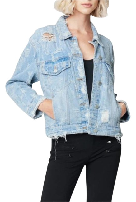 Item - Blue Ride with Me Distressed Jacket Size 0 (XS)
