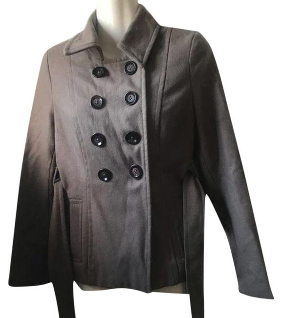 Item - Gray Orange XS Button-up Belted Coat Size 0 (XS)