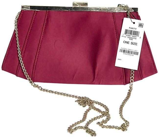 Item - Womens Winged Color Wine Satin Clutch