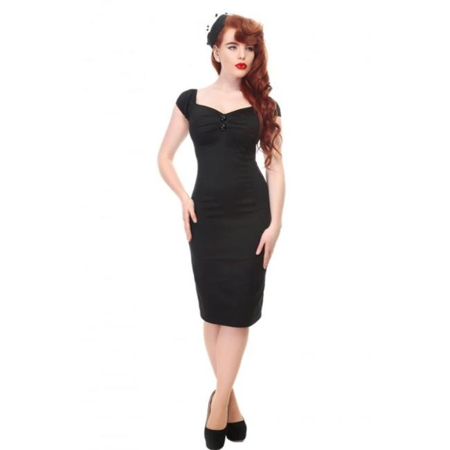 Item - 50s Dolores Black Retro Short Casual Dress Size 4 (S)