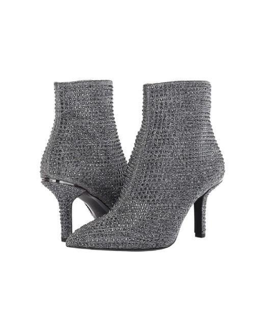 Item - Silver Katerina Embellished Glitter Ankle Boots/Booties Size US 6.5 Regular (M, B)