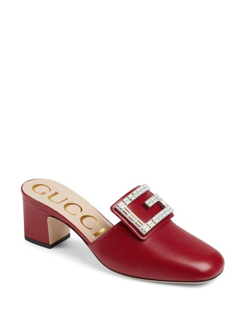 Item - Red Women's Madelyn Square G Leather Mules/Slides Size EU 39 (Approx. US 9) Regular (M, B)