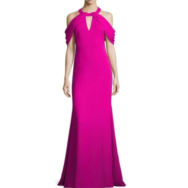 Item - Pink Magenta Draped Gown Formal Dress Size 2 (XS)
