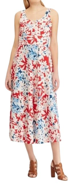 Item - Red Blue Flag Lake Long Casual Maxi Dress Size 4 (S)