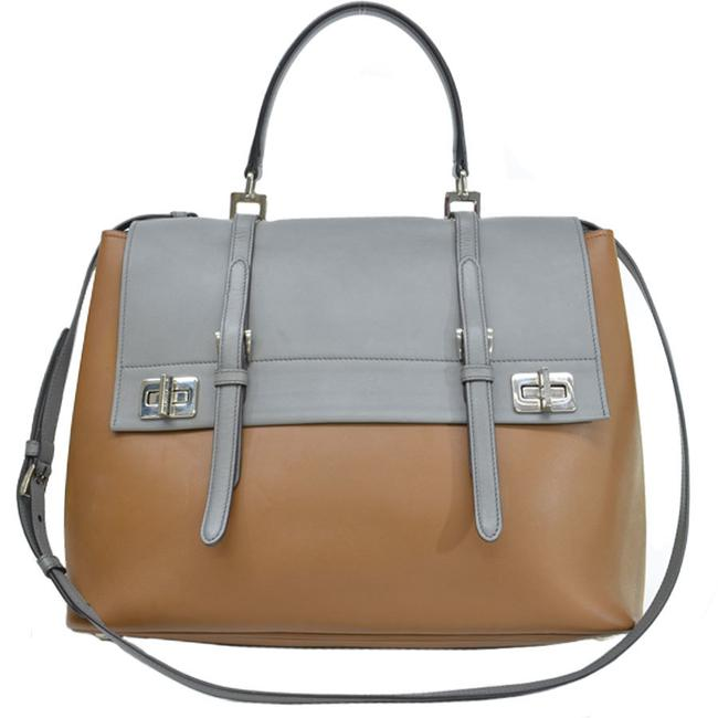 Item - Handbag Ladies Brown / Gray / Silver Leather Shoulder Bag
