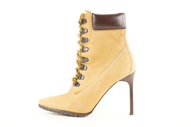 Item - Light Brown Nubuck Oklamod Ankle Heels Stiletto 507man35 Boots/Booties Size EU 35.5 (Approx. US 5.5) Regular (M, B)