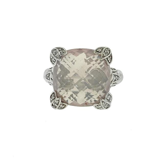 Item - Pink Sterling Silver Light Stone with Czs Ring