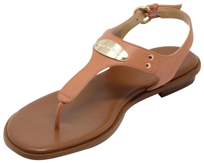 Item - Peach Plate Thong Leather Sandals Size US 8.5 Regular (M, B)