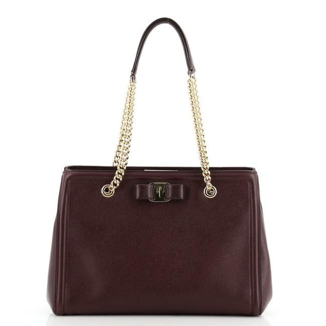 Item - Melike Saffiano Small Red Leather Tote