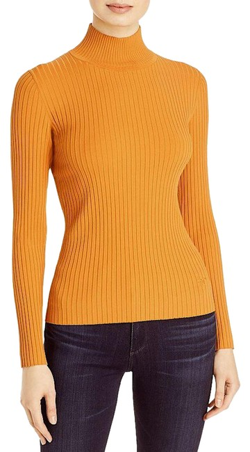 Item - Ribbed Turtleneck Light Orange Rust with Tag Sweater