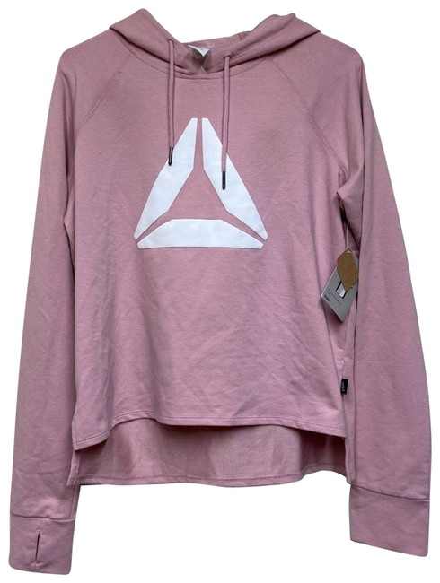 Item - Pink Cotton Blend Hoodie Brand Graphic Med Activewear Top Size 8 (M)
