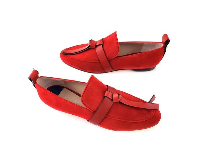 Item - Crimson Red Prescott Suede Leather Loafers Flats Size US 8.5 Narrow (Aa, N)