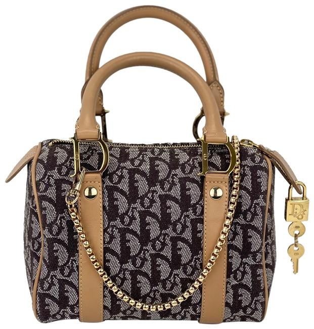 Item - Vintage Mini Trotter Boston issimo Added Chain B289 Brown Canvas Tote