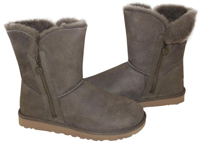 Item - Eucalypus Brown Double Zip Classic Short Suede Shearling Water Resistant Boots/Booties Size US 7 Regular (M, B)