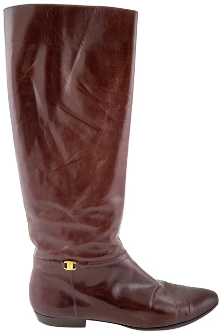 Item - Brown Susy Leather Knee High Aaaa Boots/Booties Size US 8.5 Narrow (Aa, N)