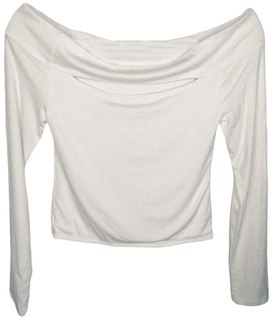 Item - White Off Shoulder Cutout Crop Small Blouse Size 4 (S)