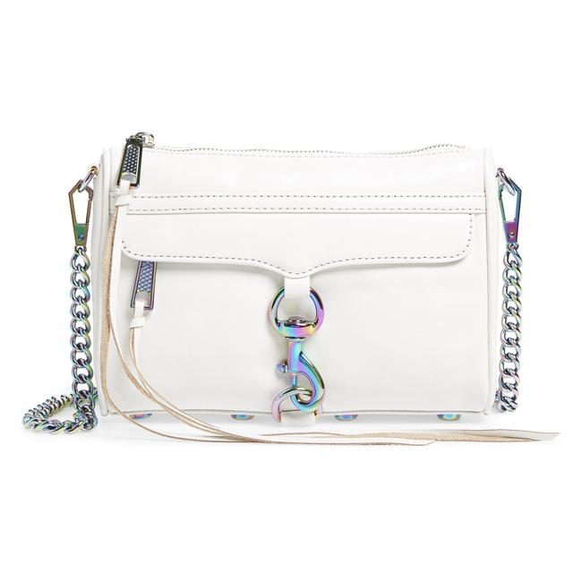 Item - Clutch Bianco Oil Slick Mini Mac Convertible White Leather Cross Body Bag