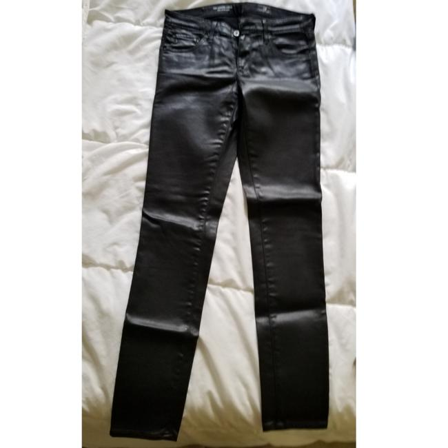 Item - Black Coated The Legging Ankle - Super Ankle Skinny Jeans Size 26 (2, XS)