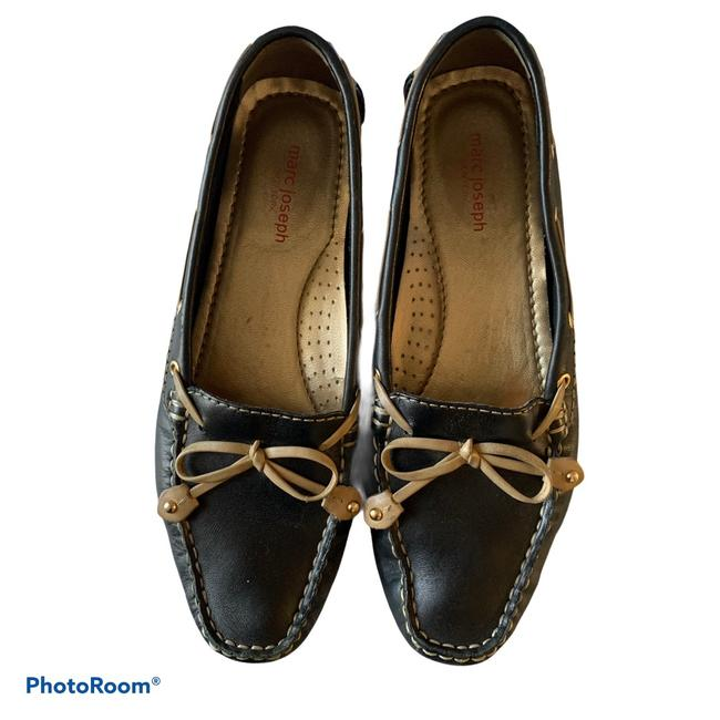 Marc Joseph Black & Cognac Cypress Hill Loafers Flats Size US 8 Regular (M, B) Marc Joseph Black & Cognac Cypress Hill Loafers Flats Size US 8 Regular (M, B) Image 1