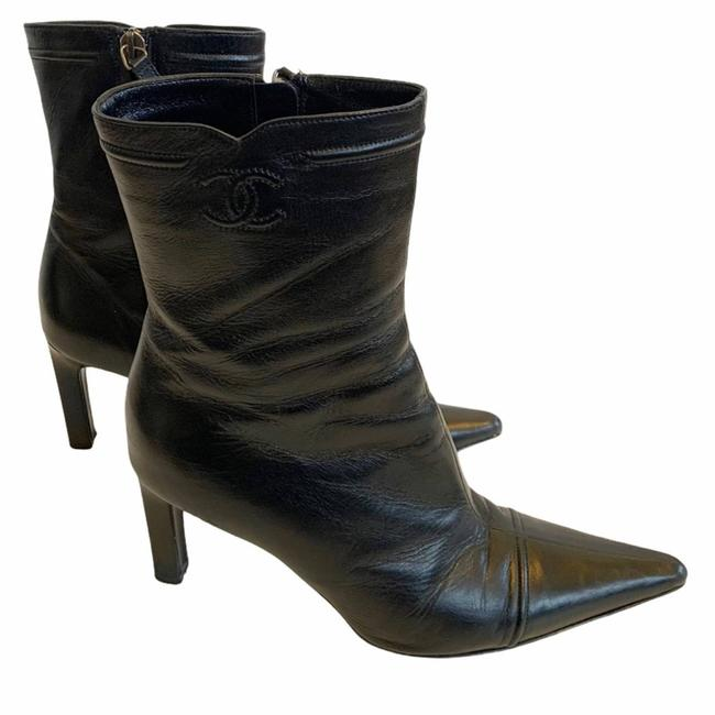 Item - Black Leather Lambskin Boots/Booties Size EU 37 (Approx. US 7) Wide (C, D)