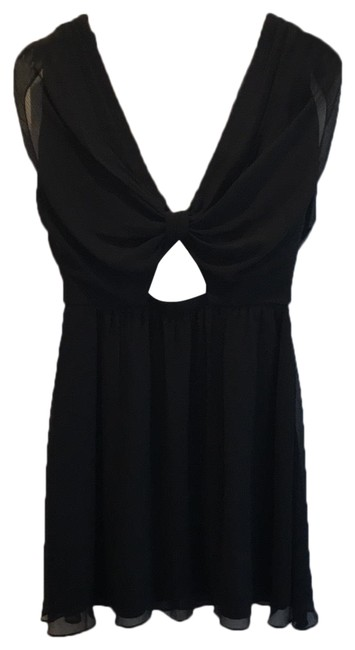 Item - Black Cut-out Short Night Out Dress Size 6 (S)