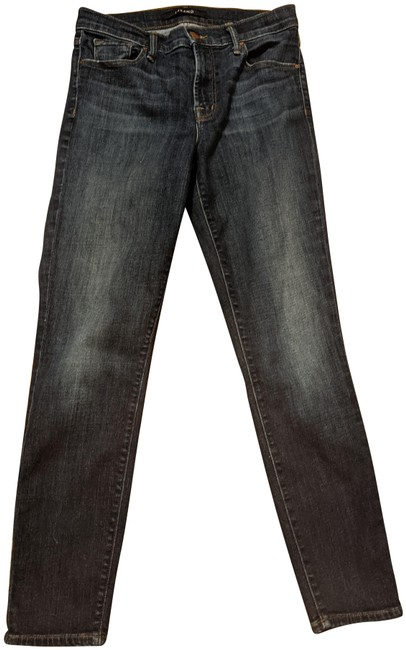 Item - Med Blue Wash Distressed Mid-rise Skinny Capri/Cropped Jeans Size 27 (4, S)