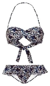 Other ,Isolda,Navy,Multi,Baroque,Print,Knotted,Frilled,Bikini,