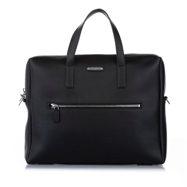 Item - Business Black Leather Messenger Bag