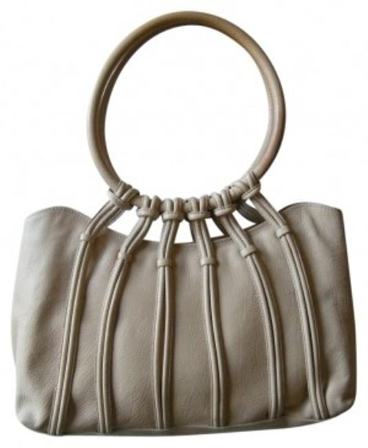 Item - Ring Fiore Handbag Buff Neutral Oatmeal Beige Leather Satchel